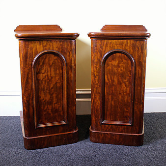 207. PAIR BEDSIDE CABINETS
